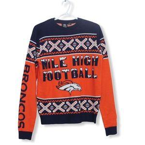 Denver Broncos Holiday Sweater (S)